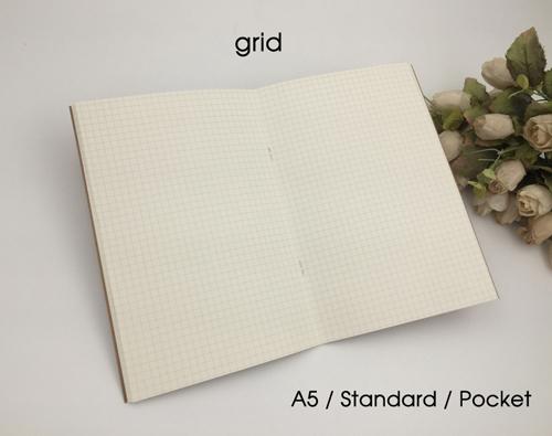 lõi sổ grid ô vuông thông minh cho sổ da bò