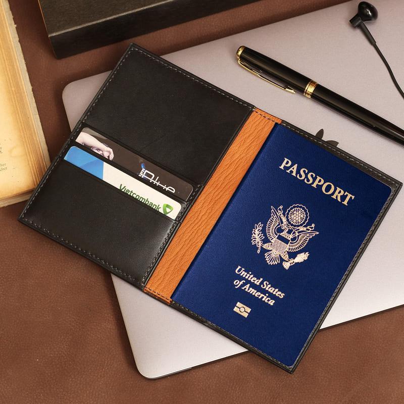 Bao đựng passport tiện dụng có thêm các ngăn chưa thẻ và giấy tờ cá nhân