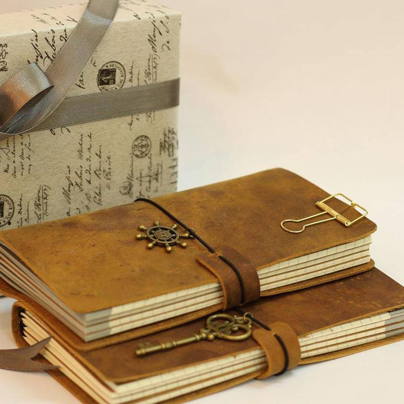 Sổ tay da bò handmade lõi giấy kraft