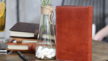 Thích mê sổ tay da bò handmade Passport Notebook