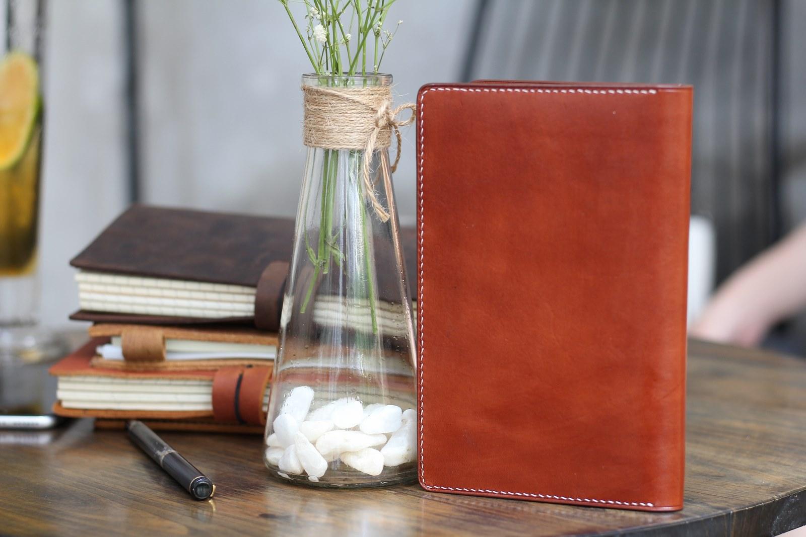 sổ tay da bò passport note book - món quà ý nghĩa