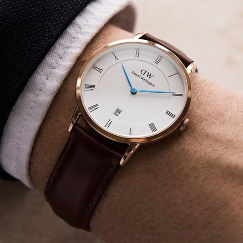 dây đồng hồ da thật handmade