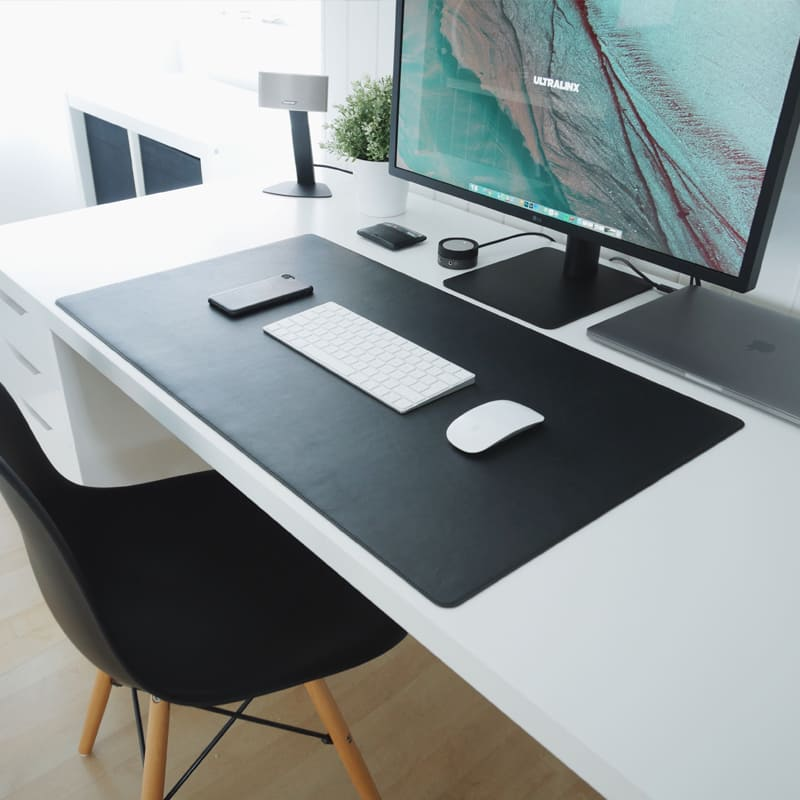 Thảm trải bàn làm việc da thật cao cấp