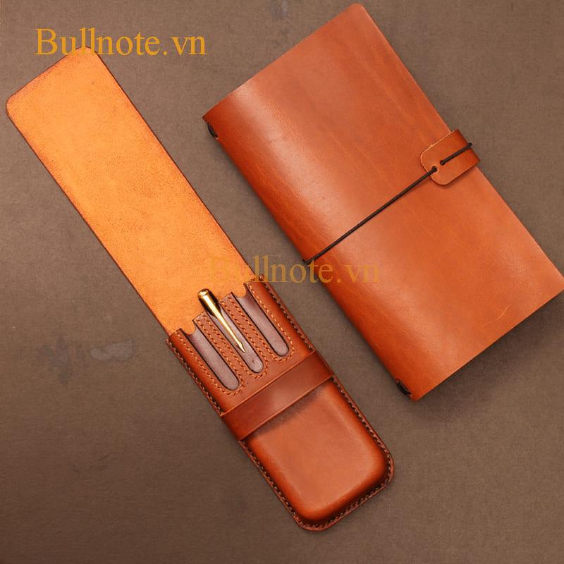 Combo sổ tay Midori và hộp bút da thật tại Bullnote