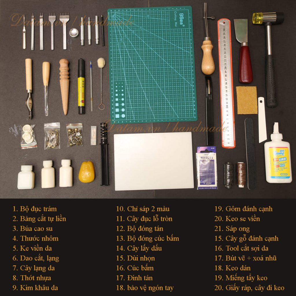 Dụng cụ làm đồ da handmade