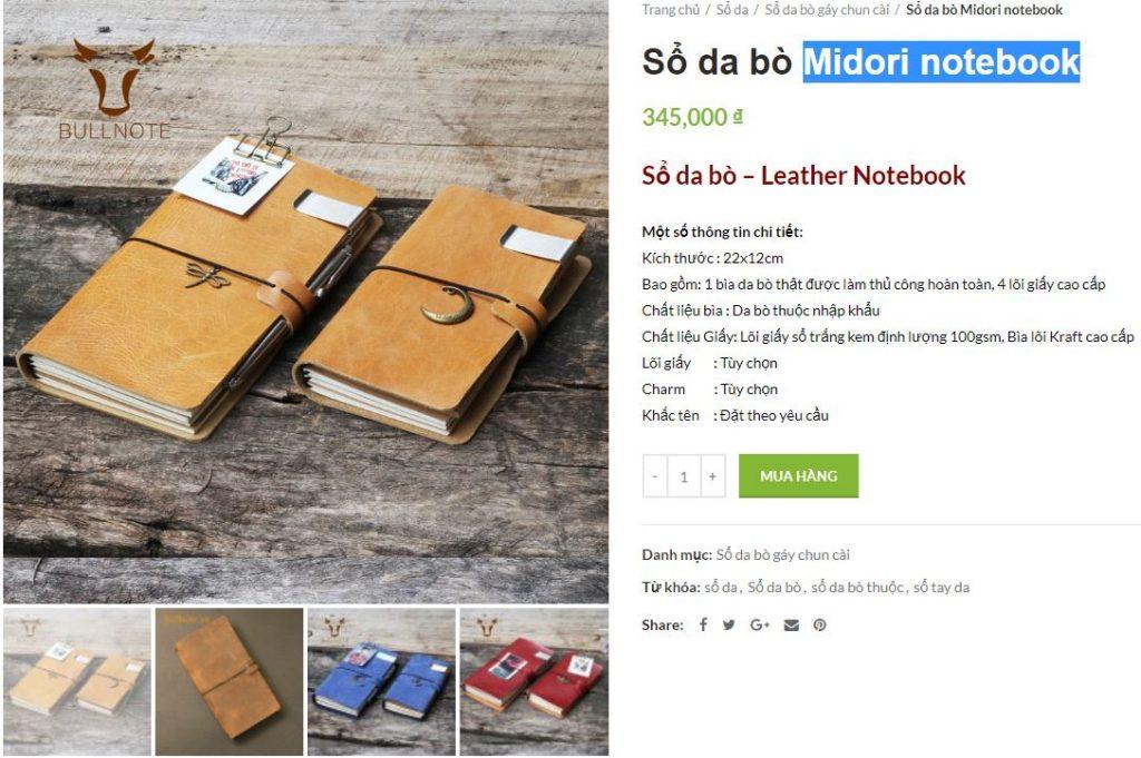 Sổ da bò Midori Notebook