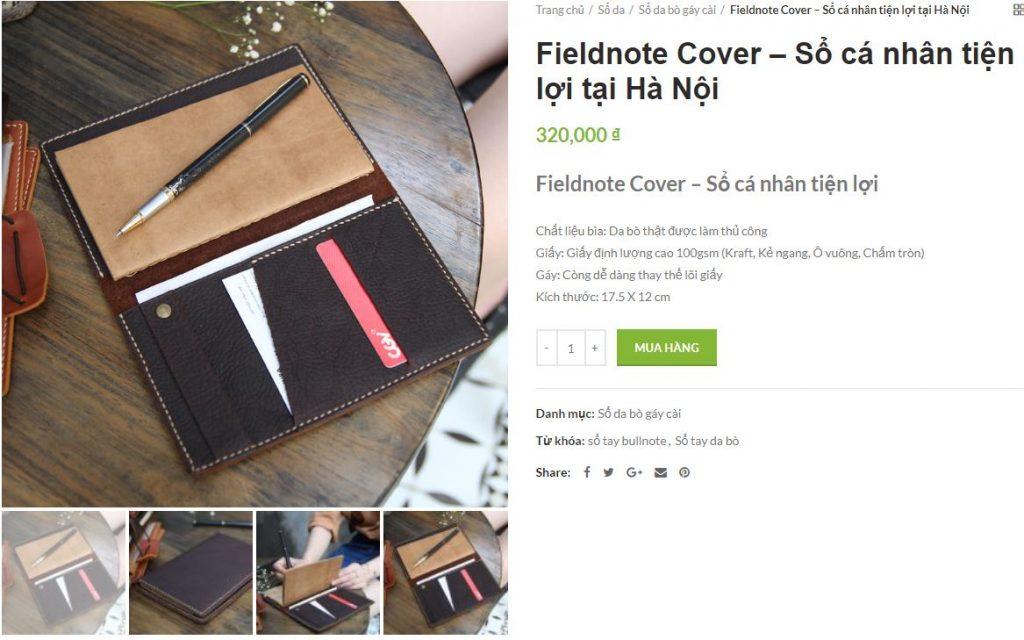 Fieldnote Cover – Sổ cá nhân tiện lợi tại Hà Nội